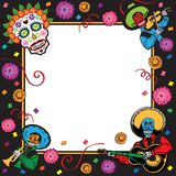 Day of the Dead Party Invitation stock illustration