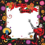 Day of the Dead Party Invitation vector illustration