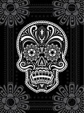 Day of the Dead Sugar Skull. Day of the Dead patterned sugar skull with floral elements Royalty Free Stock Photography
