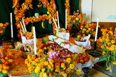 Day of the dead in patzcuaro I. Offering as part of the celebration of the day of the dead in the city of patzcuaro, michoacan, mexico Royalty Free Stock Image