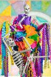 Day of the dead pinata with skeletons. Pinata with skeletons on day of the dead Stock Photos