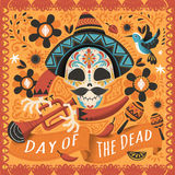 Day of the dead poster Royalty Free Stock Photo