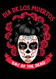 Day of the dead poster Royalty Free Stock Photos