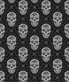 Day of the Dead Seamless Pattern Stock Photos