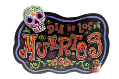 Day of the Dead Sign. A sign for the Day of the Dead celebration royalty free stock image