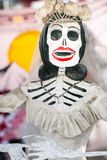 Day of the dead skeleton. Day of the dead holiday in Latin or Hispanic tradition. A skeleton Stock Photo
