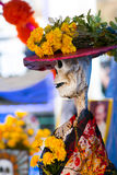 Day of the dead skeleton. Day of the dead holiday in Latin or Hispanic tradition. A skeleton Royalty Free Stock Image