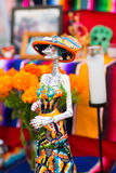 Day of the dead skeleton. Day of the dead holiday in Latin or Hispanic tradition. A skeleton Royalty Free Stock Images