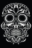 Day of the dead skull. Skull design featuring floral Day of the Dead style patterns royalty free illustration