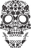 Day of the dead skull. Vector day of the dead skull pattern with floral elements Stock Images