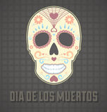 Day of the Dead Skull. Vintage style day of the dead skull that is painted Stock Photos