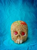 Day of dead skull. Decotive skull for Halloween & day of dead stock image