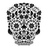 Day of the dead skull Royalty Free Stock Photo