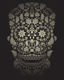 Day of the dead skull background Stock Photo
