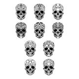 Day of the dead skull collection Stock Image