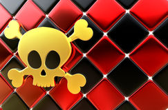 Day of The Dead skull and crossbones as background Stock Photo