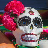 Day of the Dead Skull. Decorated skull for s Day of the Dead altar stock photo