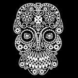 Day of the dead skull. Dia de los muertos illustration. Royalty Free Stock Photo