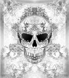 Day of The Dead, Skull with floral ornament Stock Photography