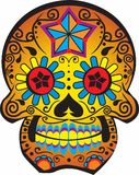DAY OF THE DEAD SKULL Royalty Free Stock Images