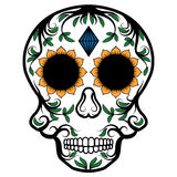 Day of The Dead Skull. Illustration of Day of The Dead Skull in Mexican religion culture Royalty Free Stock Photography