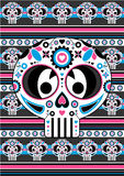 Day of the Dead Skull Pattern Royalty Free Stock Photos