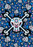 Day of the Dead Skull Pattern Stock Photos