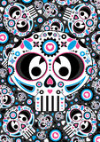 Day of the Dead Skull Pattern Royalty Free Stock Photo