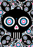 Day of the Dead Skull Pattern Stock Images