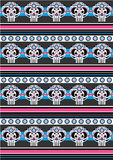 Day of the Dead Skull Pattern Royalty Free Stock Images