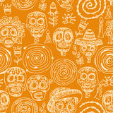 Day of the dead skull. Seamless pattern Royalty Free Stock Image