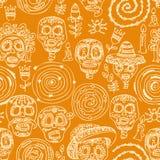 Day of the dead skull. Seamless pattern vector illustration