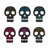 Day of the Dead Skull Set Stock Images