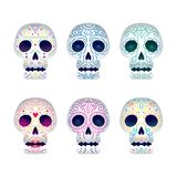 Day of the Dead Skull Set Royalty Free Stock Photo