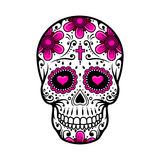 Day Of The Dead Skull. sugar flower tattoo. Vector illustration Royalty Free Stock Photo