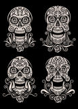 Day of The Dead Skull Tattoo Vector Set royalty free illustration