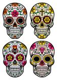 Day Of The Dead Skull Vector Set. Fully editable vector illustration of day of the dead skull vector in set on isolated white background, image suitable for