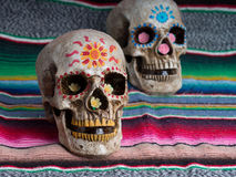 Day of The Dead Skulls stock image