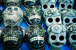 Day of the dead souvenir skulls, Dia de Muertos Royalty Free Stock Photo