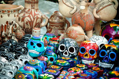 Day of the dead souvenir skulls, Dia de Muertos Royalty Free Stock Photography
