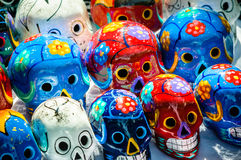 Day of the dead souvenir skulls, Dia de Muertos Stock Photography