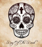 Day of the Dead sugar scull. Stock Image