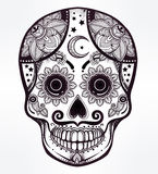 Day of the Dead sugar scull. Stock Photography