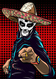 Day of the dead sugar skull man vector. Mexican skull. Dia de los muertos. EPS10 illustration. Day of the dead sugar skull man vector. Mexican skull. Day of the Stock Image