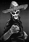 Day of the dead sugar skull man vector. Mexican skull. Dia de los muertos. EPS10 illustration. Stock Photos