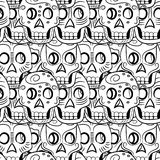 Day of the Dead Sugar Skull  pattern Stock Image