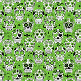 Day of the Dead Sugar Skull Seamless Vector Background Royalty Free Stock Images