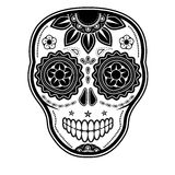 Day of the dead sugar skull. On white background Stock Photos