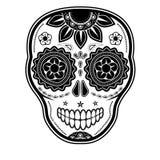 Day of the dead sugar skull. On white background Stock Illustration