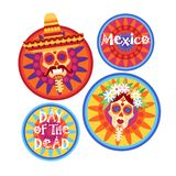 Day Of Dead Traditional Mexican Halloween Dia De Los Muertos Holiday Party Vector Illustration